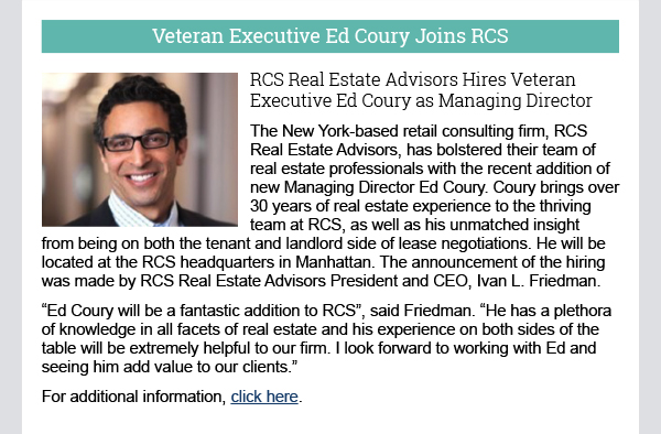 Veteran Executive Ed Coury Joins RCS
